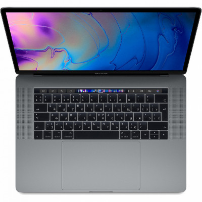 "Ноутбук Apple MacBook Pro 15"" Touch Bar (2019) (MV912), Space Grey, Touch ID, Intel Core i9 2.3 ГГц, DDR4 16 Гб, SSD 512 Гб, Radeon Pro 560X"